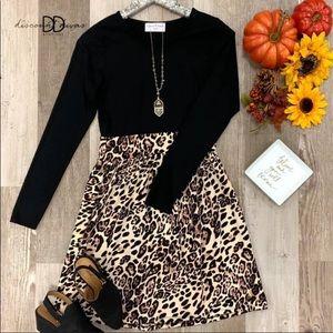 NWOT Boutique Cheetah Print Dress